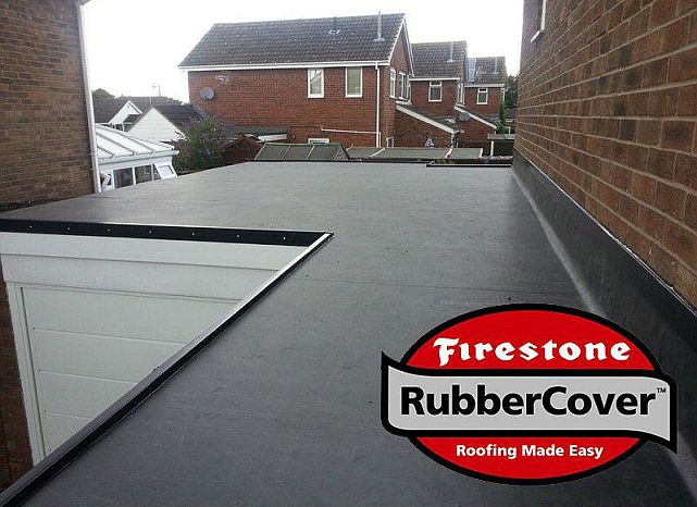 recent job installing firestone rubber roofing in hull