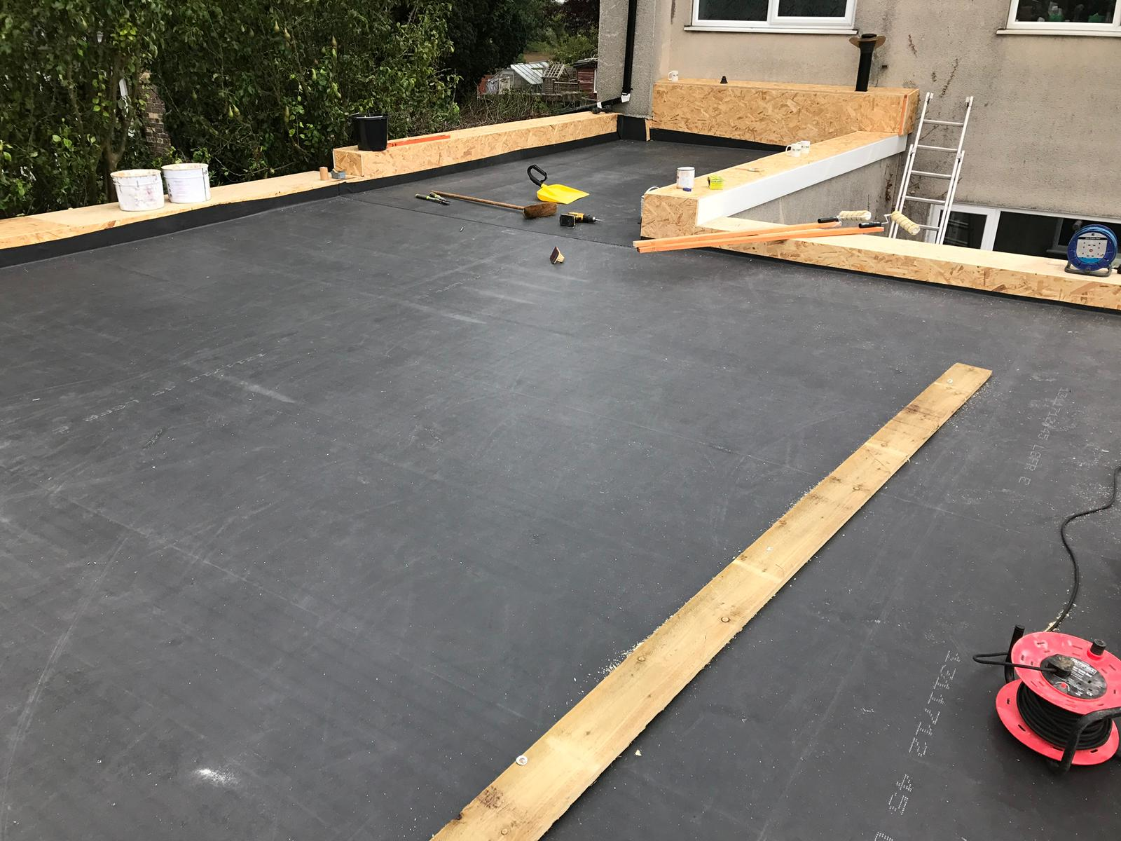 flat roofing project in hull