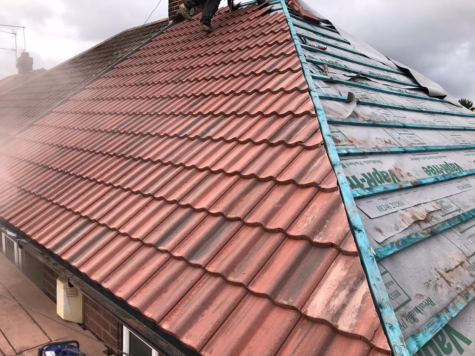 new slate roofing work carried out by the team