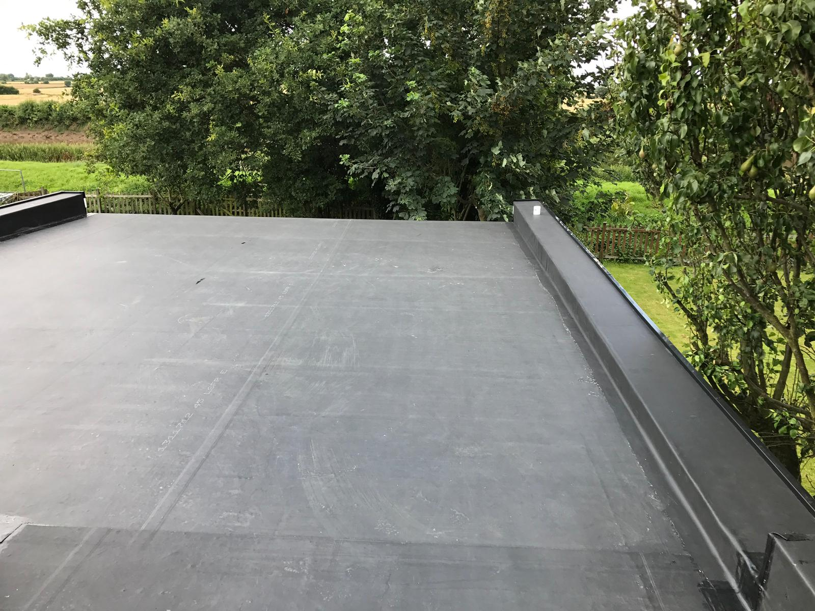 rubber roofing re-fit in hull