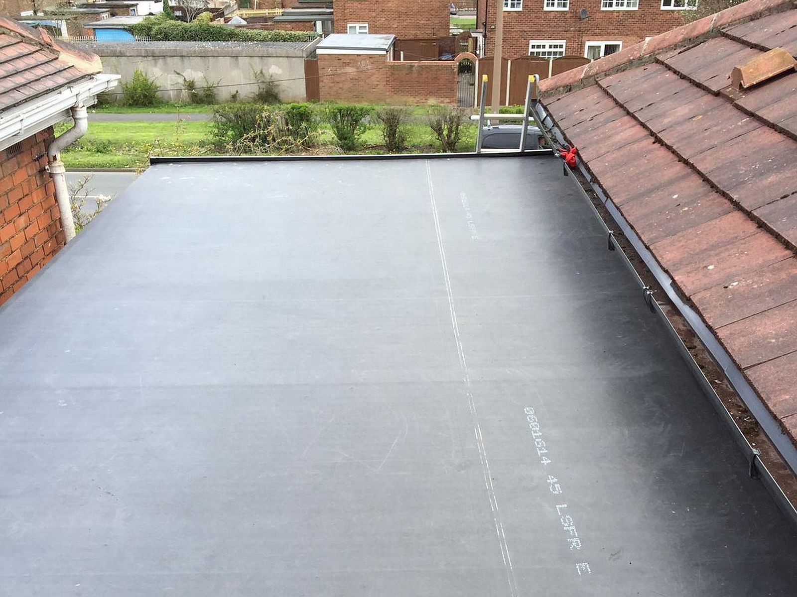 side extension rubber roofing in hull